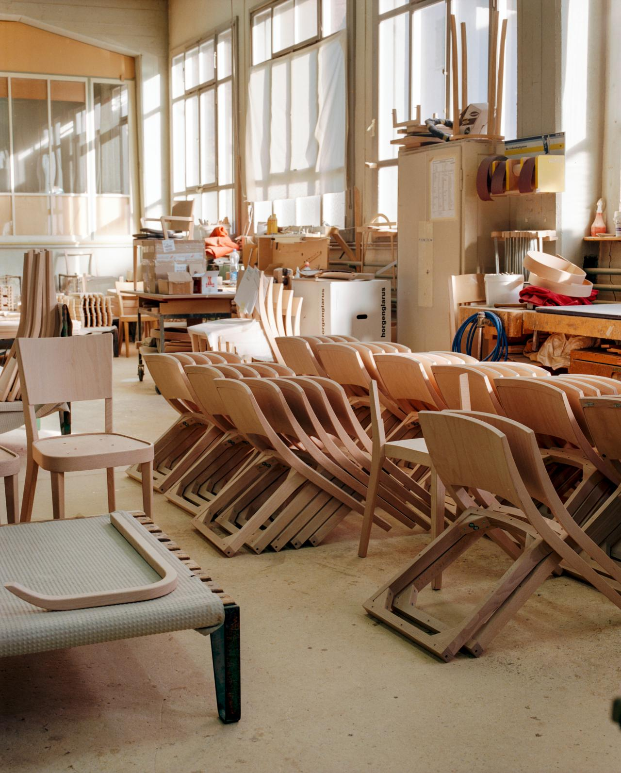 chairs in workshop