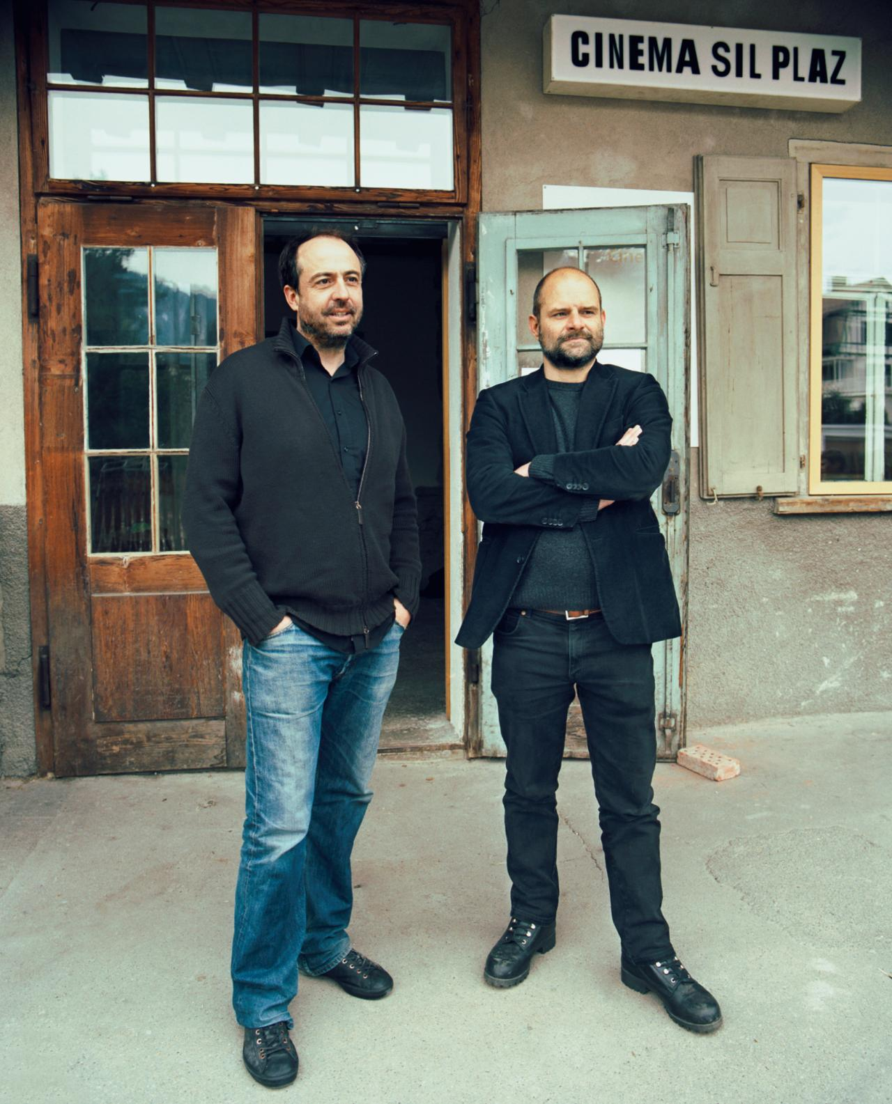 two architects standing