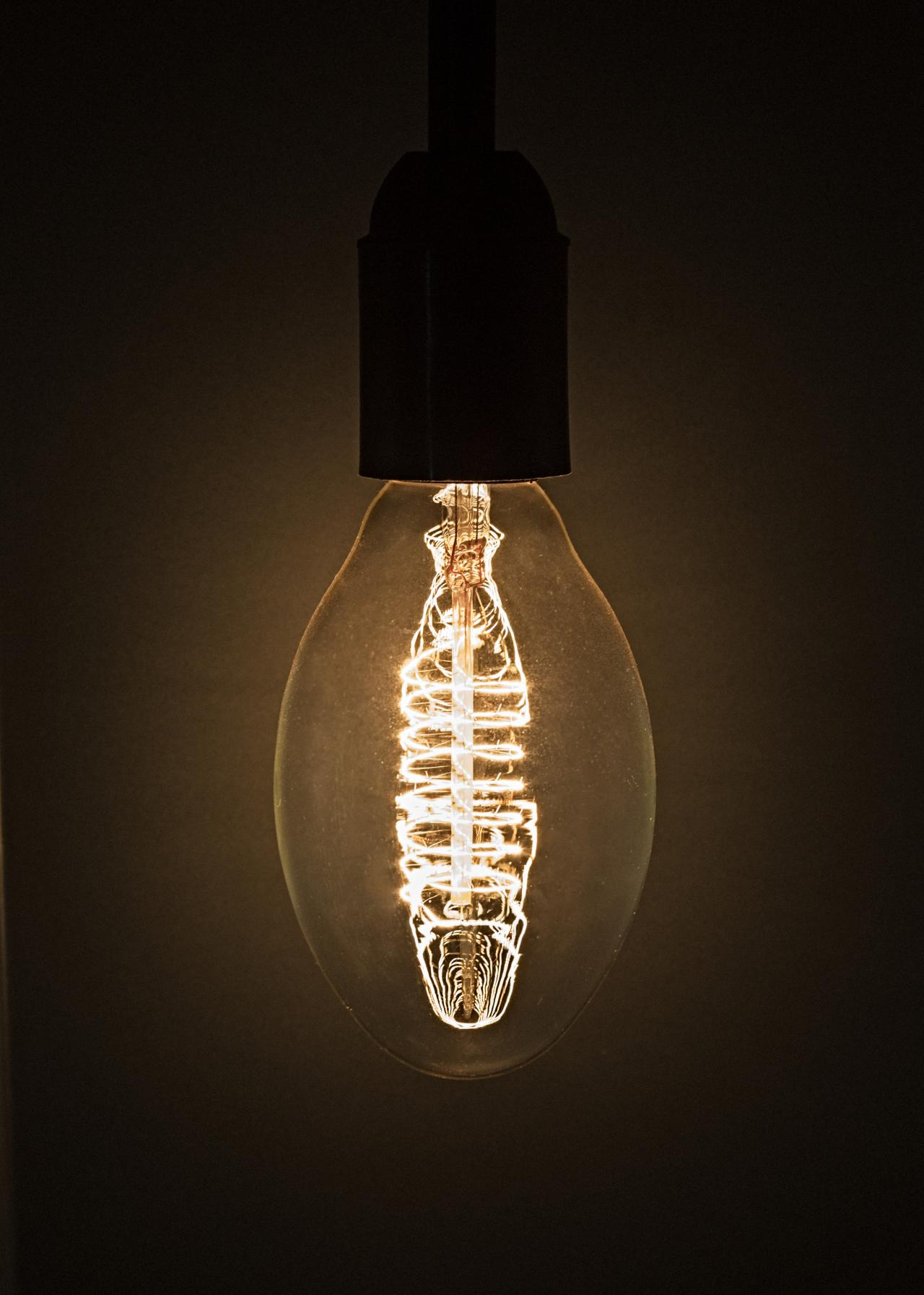 burning light bulb